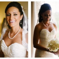 Summer Bride Half Up Hair and Makeup