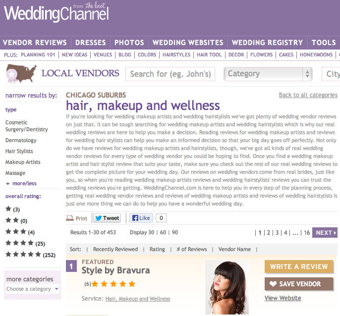 Bridal beauty on The Wedding Channel